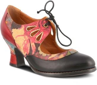 Spring Step L'Artiste by Leather Lace-up Pumps- Kallandra