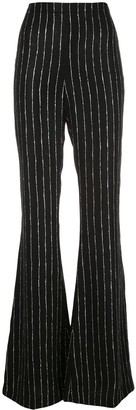 Christian Siriano Striped Wide-Leg Trousers