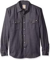 Dickies Men's Regular Fit Brushed Flannel Western Shirt