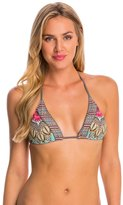 Red Carter Renaissace Halter Triangle Bikini Top 8140152