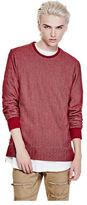 G by Guess GByGUESS Men's Croyden Herringbone Sweatshirt