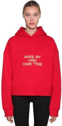Giada Benincasa Cotton Jersey Sweatshirt Hoodie