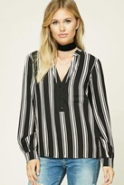 Forever 21 Contemporary Striped Woven Top