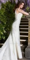 Camille La Vie Mikado wedding dress with lace detail
