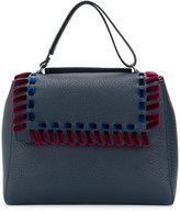 Orciani velvet woven trim tote - women - Leather/Velvet - One Size