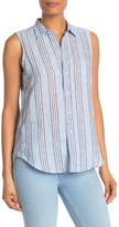 Frank And Eileen Fiona Linen Blend Sleeveless Top