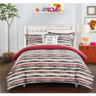 Chic Home Chona 6 Piece Reversible Bed in a Bag Duvet Cover Set