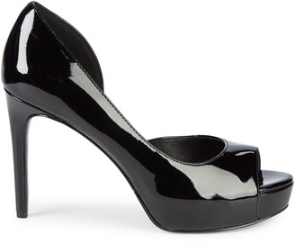 Nine West Patent Peep-Toe Pumps