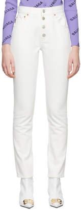 Balenciaga White Tube Jeans
