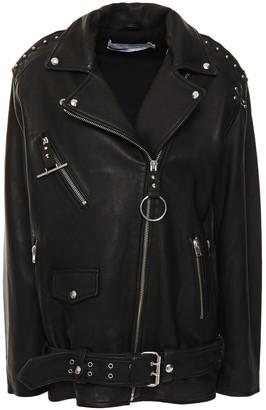 IRO Kurty Embellished Leather Biker Jacket