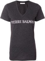 Pierre Balmain v-neck T-shirt with logo