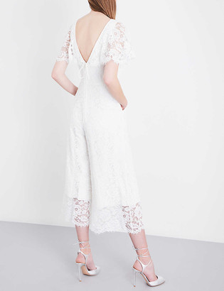Whistles Victoria lace wedding jumpsuit