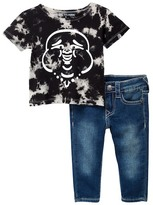 True Religion Buddha Tee & Jean Set (Baby Boys)