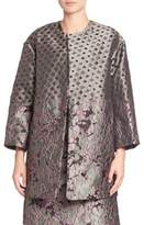 Natori Mixed Print Jacquard Coat