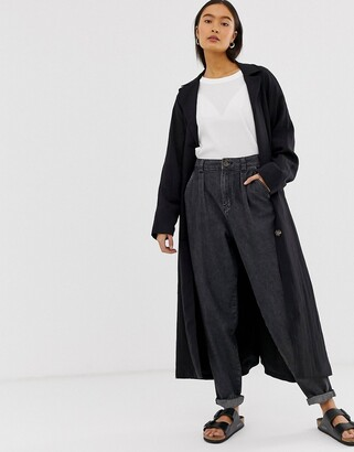 Asos Design DESIGN soft peg jeans in washed black with back tab detail
