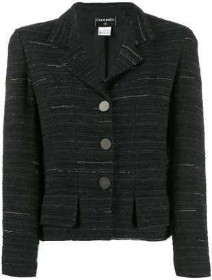 Chanel Pre Owned 1999 Striped Tweed Jacket