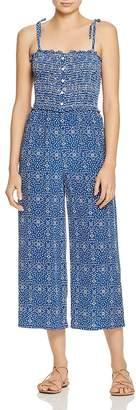 Paloma Blue Stretch-Smocked Jumpsuit