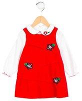 Florence Eiseman Girls' Corduroy Floral-Appliquéd Dress
