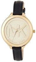 MICHAEL Michael Kors 42mm Slim Runway Watch w/ Leather Strap, Black
