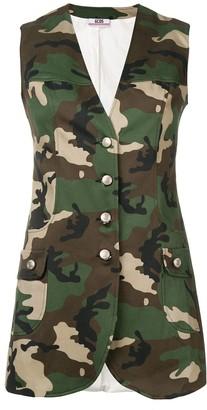 GCDS Camouflage Print Gilet
