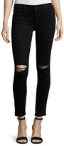 DL1961 Margaux Instasculpt Skinny Ankle Jeans with Ripped Knees, Rattlesnake