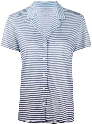 Majestic Filatures Striped Short-Sleeved Shirt
