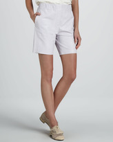 Halston High-Waist Leather Shorts