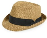 BP Junior Women's Straw Fedora - Beige