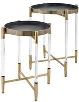 Waldo Metal and Acrylic 2 Piece End Table Set Mercer41