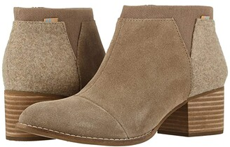 Toms Loren (Taupe Gray Suede/Felt) Women's Shoes