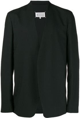 Maison Margiela Collarless Fitted Blazer