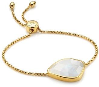 Monica Vinader Siren Nugget Cocktail Chain Moonstone bracelet