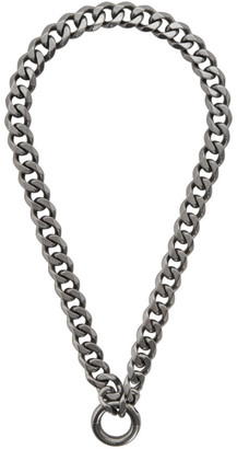 Random Identities Gunmetal New P.A. Chain Necklace