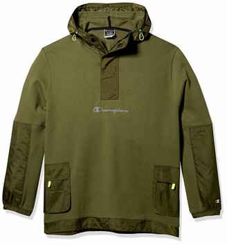 Champion Life Men's Sideline 1/2 Zip Pullover-Chest Reflective Script Cargo Olive X Small