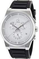 Calvin Klein Men's 'Dart' Swiss Quartz Stainless Steel and Rubber Casual Watch, Color:Black (Model: K2S371D6)