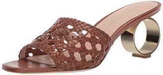 Loeffler Randall Women's BRETTE-WL Slide Sandal Optic White 8 Medium US