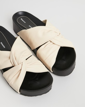 Proenza Schouler Knot Leather Slides