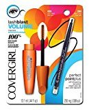 Cover Girl LashBlast Volume Water Resistant Mascara Very Black 825 ( .44 oz) and Perfect Point Plus Eye Pencil Black Onyx ( .008) Value Pack