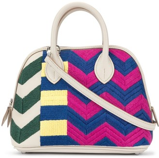 Hermes 1973 pre-owned mini Bolide 20 Bride 1923 Zig-Zag bag