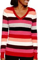 WORTHINGTON Worthington Long-Sleeve V-Neck Pullover Sweater - Tall