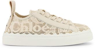 Chloé Lauren Lace Sneakers in Mild Beige   FWRD