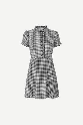 Samsoe & Samsoe Black Gingham Zarani Shirt Dress - XSMALL