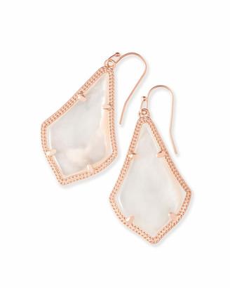 Kendra Scott Alex Rose Gold Drop Earrings in Ivory Pearl