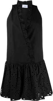 Dondup Ruffle Trim Dropped Waist Dress