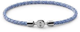 Miansai Nexus Ribbon Sterling Silver And Rope Bracelet