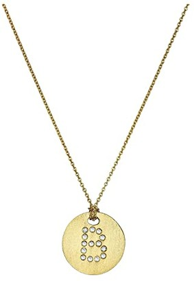 Roberto Coin Tiny Treasures 18K Yellow Gold Initial B Pendant Necklace (Yellow Gold) Necklace