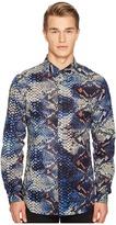 Just Cavalli Python Tie-Dye Print Shirt Men's Clothing