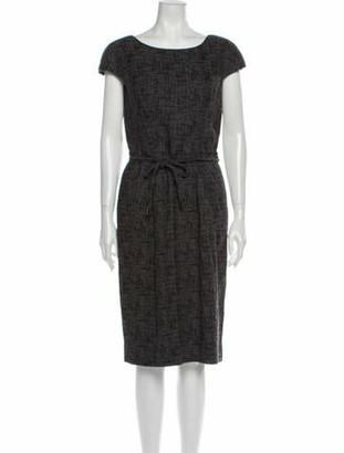 Dolce & Gabbana Scoop Neck Midi Length Dress Grey