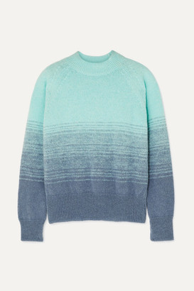 Dries Van Noten Knitted Ombre Sweater - Turquoise