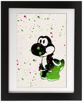 Mario Yoshi Art Print